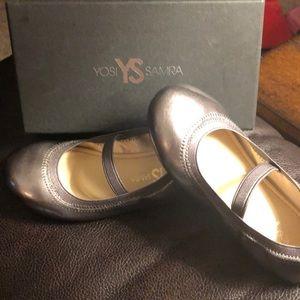 Yosi Samra metallic  girl dress shoes